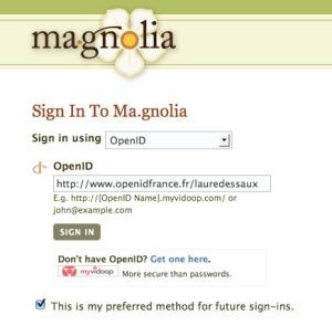inscription à ma.gnolia avec OpenID